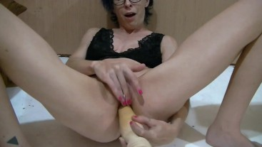 Masturbating with a Table Leg
