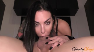 THROAT FUCK & INTENSE THROATPIE for SEXY MILF, SHE STAYS DOWN!