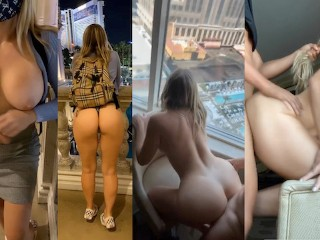Slutty Big Booty Teen White Girl Public Tease and Fucked all over Vegas, Hotel Caught on Snapchat