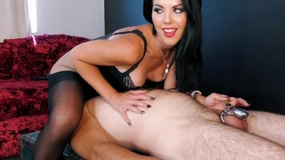 Facesitting the Chastity slave - Young Goddess Kim