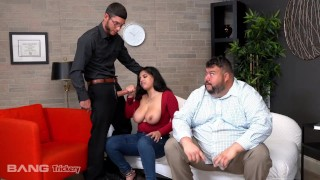 Screen Capture of Video Titled: Trickery - Busty Latina Fucks Counselor While Her Ex-Fiance Watches