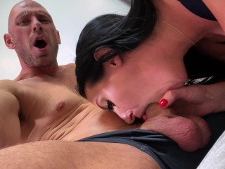 Angela White and Johnny Sins have Passionate Sex at Home