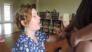 Nurse Autumn takes special care, and cum in her mouth