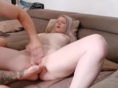 Fingering her until orgasm