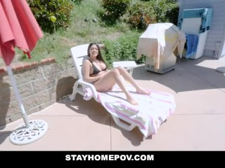Horny Amateur Latina Teen Sucks Cock For Cash
