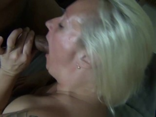 Blonde amateur creampied by black dick