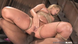 PrivateBlack - Bound Beauty Flower Tucci Anal Pounded By BBC