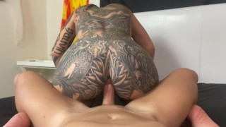 Hard Anal Pounding Sex, Reverse Cowgirl Anal, Deepthroat, Sloppy BJ, Pussy Pounding with Shreddz