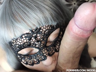 POV GREY HAIRED MILF LOVE TO SUCK MY COCK 4K