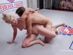 Mixed Wrestling Fight As Kay Carter Gets Fucked Silly By Nathan Bronson Right On The Mat