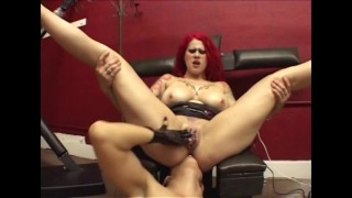 lesbian asshole cleaning in dungeon