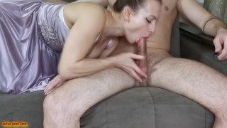 Вaby loves to suck cock and get cum in her mouth