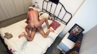 Horny Couple Hard Rough Sex in Different Poses and Facial