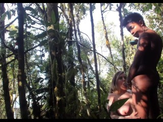 PAWG & 11 INCH BBC SUCKIN' 'N' FUCKIN' IN THE WOODS with @elKonguito