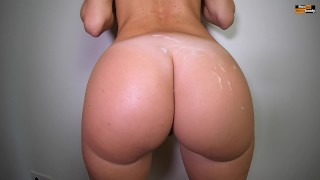 PAWG GETS HER ROUND ASS COVERED WITH CUM   MORNING QUICKIE