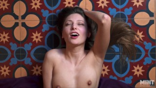 Beautiful Talia Mint has an orgasm(the beauty of orgasm reflected on her face)