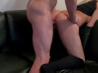 Horny swedish bitch gets 2 in pussy as a warmup