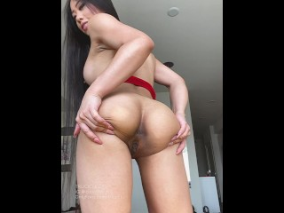 Sexy Asian Only Fans Stripper Spreads Her Asshole And Strips A Dripping Outfit In Her Apartment