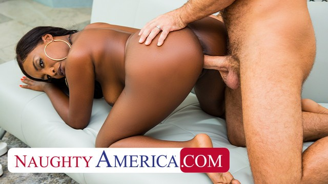 Naughty America - Daya Knight takes her friend's big cock for a ride after a full body massage