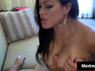 Busty Asian StepMom Maxine X Cums While Blowing Step Son!