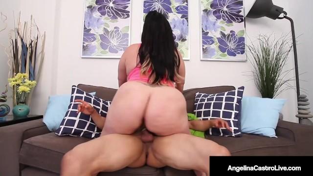 Big Booty Latina Angelina Castro Spreads Her Big Butt Cheeks