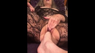 Submissive Sexy Moaning Mature Milf Worships Foot And Receives Bizarre Foot Fuck-Naughty!