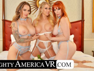 Naughty America - Lauren Phillips and Natasha Starr surprise the bride, Katie Morgan xxx hd tube