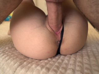 BFF's Dad Can't Handle My Tight Wet Pussy And Cum Inside Me Twice 4K