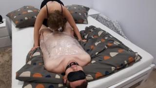 Femdom Slave Eats His Own Cum | Blowjob | Oral creampie | Humiliation | Cuckold Training |