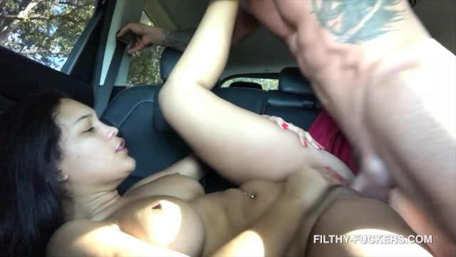 Fucking My Roommates Cheating Girlfriend Alina Belle In My Car 4K