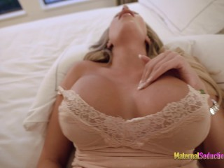 Step Mom with New Big Tits Wants her Face Covered in Cum – Nikki Brooks