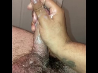 Daddy gets sloppy blowjob and fucks my ass then cums