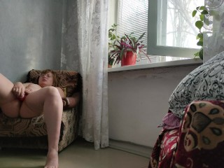 Alone at home with favorite hentai and toys \ Одна дома с любимым хентаем и игрушками \ 4К