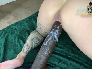Tiny Tattooed Babe Fucked by Huge Cock, wet creampie - FITFAWNX
