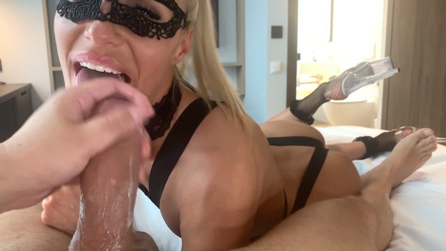 Fitness model takes a big dick in the ass between non-stop gagging and deep ...
