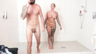 German Porn Star Mia Blow she love to fuck in the shower with Stefan Steel