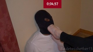 Timed Foot Gagging Challenge 2