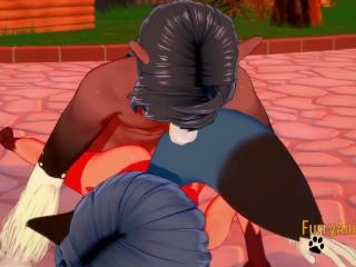 BNA Hentai – Michiru having sex with a Horse