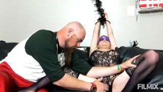 Light BDSM for MILF. Orgasm by hands