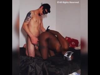 Jack&Sally BDSM petite black soumise et bien baisée
