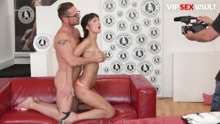 ExposedCasting - Angie Moon Small Tits Russian Brunette Hardcore Pussy Drilling Audition