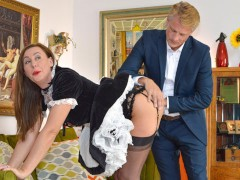 Hot Sticky Cum on Lara Latex Arse