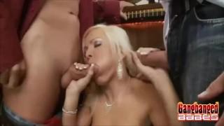 Hot Oral Sex Gangbang At The Pub