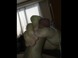 Nice cock cums massive load in slow mo
