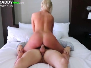 Tiny Blonde Slut Renee Asked Me To Pay Her Rent For Some Good Sex And A Facial