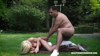 Angela Vidal Loves Fucking Outdoors and if it's with an Older Guy even more - by GrandDadz