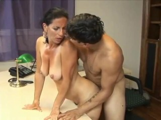 Sexy 70yo secretary loves 20yo boss
