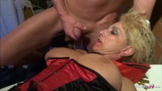 HALLOWEEN PARTY AMATEUR GROUP SEX WITH TWO GERMAN MILFs