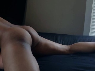 BLACK GUY NICE ASS Moaning sex with torso doll