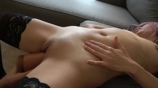 Watch her belly as her body is penetrated